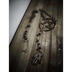 Chapelet rosaire doré 666 Hamsa 666