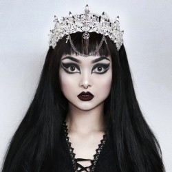 Couronne argenté 666 Goth Princess Vyolafae 666