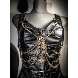 Harnais chaines noir doré 6666 Egypt 666