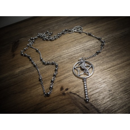 Chapelet rosaire acier mixte Fantasy Hippocampe Seahorse