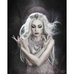 Couronne argentée strass diamant Sphynx Elaine