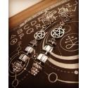 Boucles d'oreilles argentées Bel Epoque 666 Eleine 666