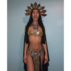 """Ceinture argentée et dorée Masuimi """"Queen of the Damned"""""""