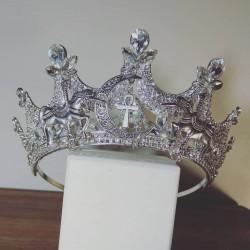 Couronne argentée strass diamant Licorne Egypt Eleine