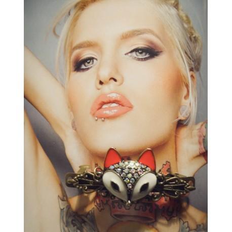 Une grande Barrette Bohème Indien Chic Fox Renard gypsy MC Ink ♰Fox♰