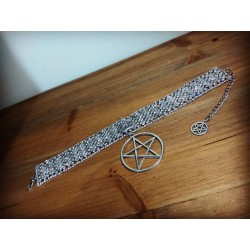 Collier argenté strass glam and shine 666 Sandra 666
