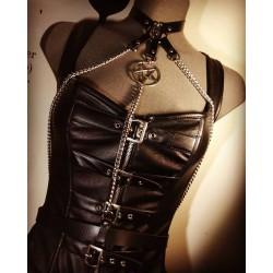 Harnais noir cuir vegan 666 Jessie 666