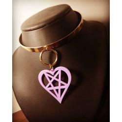 Collier rigide doré violet 666 Fuel Girls 666