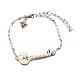 """Bracelet couleur argenté """"Fleur de Lys"""""""