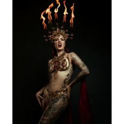 Ceinture dorée belly dance Queen of the Damned Cervena
