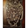 Collier argenté plastron lune Butterfly Skull