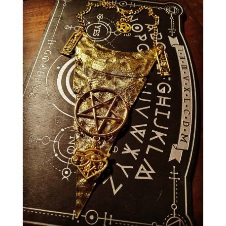 Collier doré géométrique 666 Horus 666