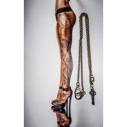 Collier bronze steampunk paire de menottes