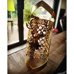 Manchette bracelet doré Deer Masuimi