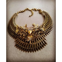 Collier spikes doré Deer