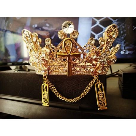 Couronne bronze doré Crosses and Ankh Gaiapatra