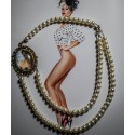 Collier perles crème double rang bronze camée gypsy bohème MC Ink ♰Tattoo Aurora♰