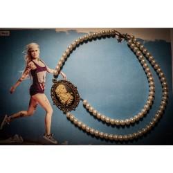 Collier perles crème bronze Mexican Sugar Skulls cavalera ♰Forever Love♰