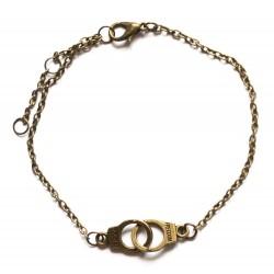 """Bracelet couleur bronze paire de menottes """"Guilty"""""""