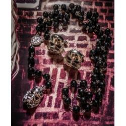 Chapelet rosaire argenté cabochon mixte Star Wars Kylo Ren ♠Stormtrooper♠
