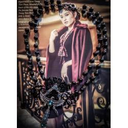 Chapelet double rosaire argenté noir Mexican Sugar Skulls calavera gypsy bohème ♰Phoenix♰
