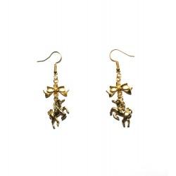 """Boucles d'oreilles couleur doré """"Licorne d'Or"""""""