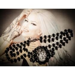 Chapelet rosaire cabochon Alice aux pays des merveilles De l'autre côté du miroir ♠Le Lapin Blanc♠
