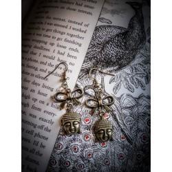 """Boucles d'oreilles couleur bronze Bouddha """"Audrey"""""""