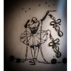 """Boucles d'oreilles couleur bronze """"Infini"""""""