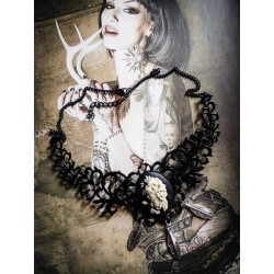 Collier plastron noir camée star wars kilo ren steampunk ♠Amidala♠