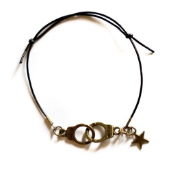 "Bracelet couleur bronze et cuir ""Guilty Star"""