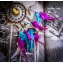 Dreamcatcher attrape rêve bébé cadeau de naissance steampunk bronze plumes ♰Forever Love♰
