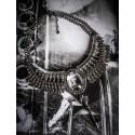 Collier plastron argenté camée manga fantasy Tokidoki ♰ Catwoman Doll ♰