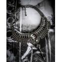 Collier plastron argenté camée manga fantasy ♰ Pirate Pullip ♰