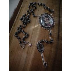 Rosaire chapelet argenté camée manga fantasy ♰ Pirate Pullip 2 ♰