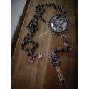Rosaire chapelet argenté camée manga fantasy ♰ Pirate Pullip ♰