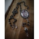 Chapelet rosaire argenté camée goth punk steampunk ♰ Crown Skull Doll ♰