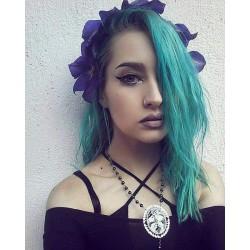 Chapelet rosaire perles noires argenté camée Mexican Sugar Skulls calavera gypsy bohème ♰twin Sisters♰