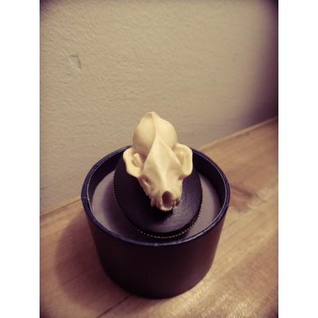"Bague réglable bronze cabochon camée ""Vampire Bat Skull"""