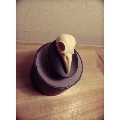 """Bague réglable bronze cabochon camée """"Moon Raven"""""""
