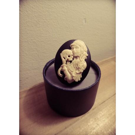 Bague réglable bronze cabochon calavera dia de los muertos mexican gypsy bohème ♰Sleepy Hollow♰