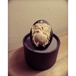 Bague réglable bronze cabochon calavera dia de los muertos mexican gypsy bohème ♰Regrets♰
