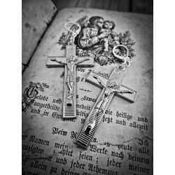 Boucles d'oreilles argentées croix style ♰Kat von D♰.