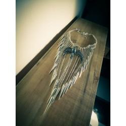 Collier plastron argenté chaines boho chic Harry Potter ♠Serredaigle♠
