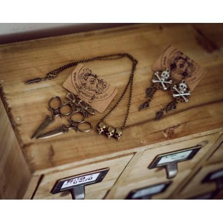 Boucles d'oreilles bronze Scisors Edward Tim Burton
