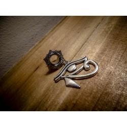 Plug expander laiton 8 mm argenté dentelle ankh égyptien ♠Cleopatra♠