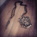 Collier bronze écusson steampunk Harry Potter ♠Griffondor♠