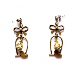 "Boucles d'oreilles bronze ""Royal Bird"""