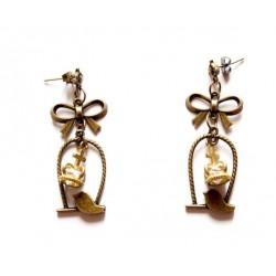 "Boucles d'oreilles bronze ""Royal Bird"""