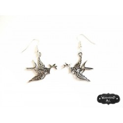"Boucles d'oreilles ""Tattoo Bird"""